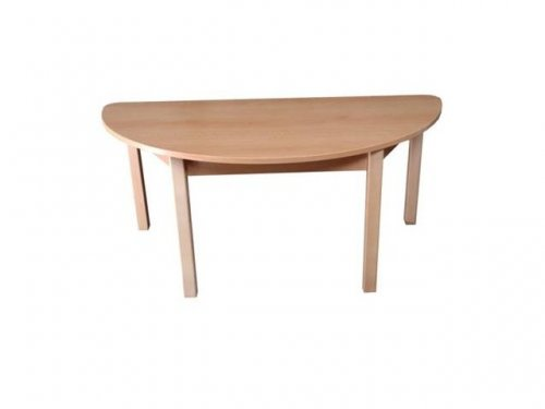 Semicircular table